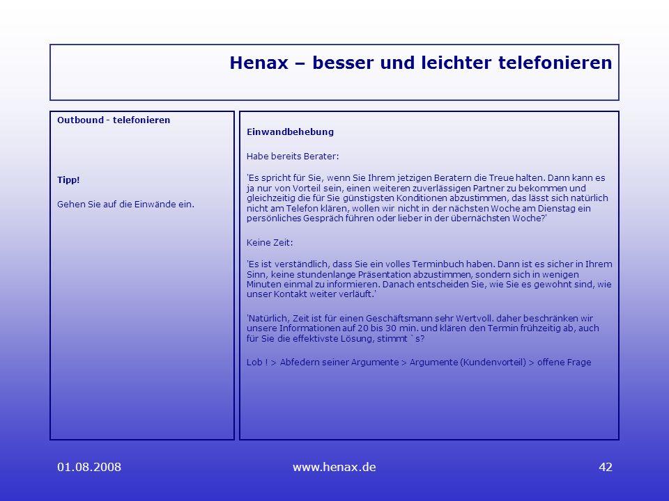 Henax – besser und leichter telefonieren