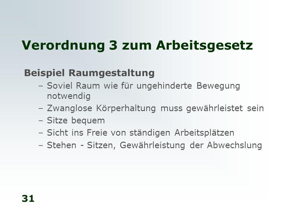 Verordnung 3 zum Arbeitsgesetz