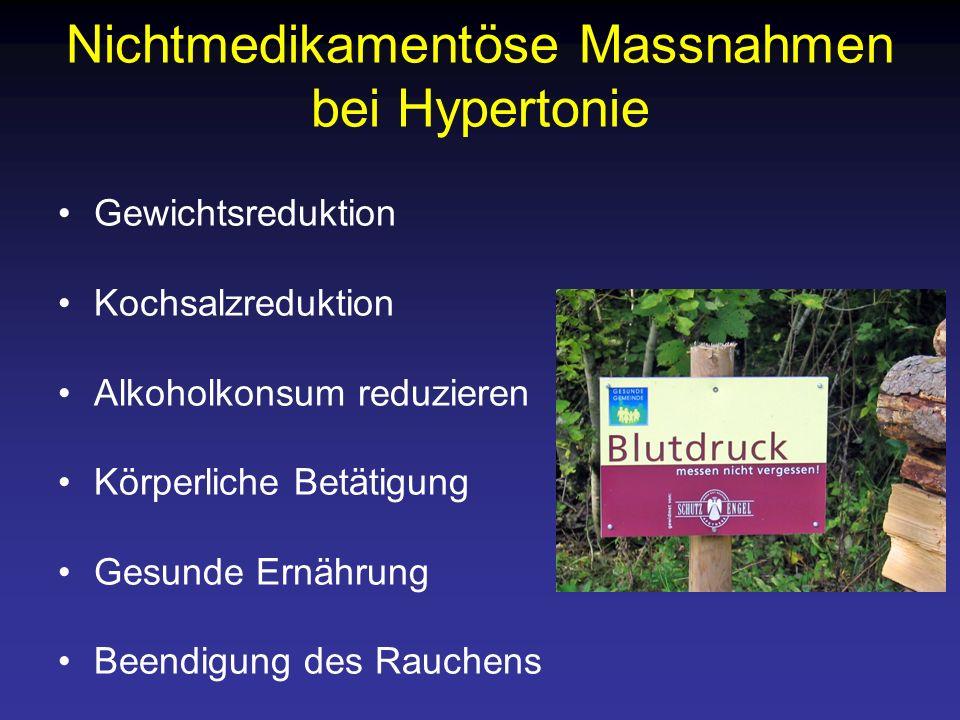 Nichtmedikamentöse Massnahmen bei Hypertonie