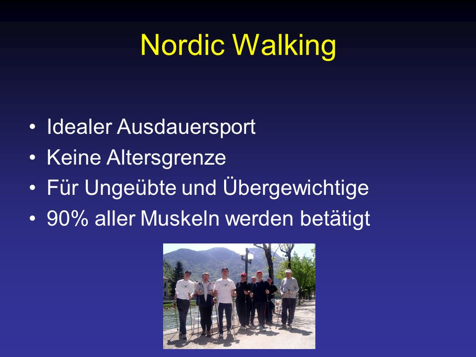 Nordic Walking Idealer Ausdauersport Keine Altersgrenze