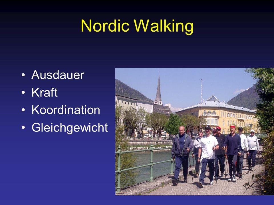 Nordic Walking Ausdauer Kraft Koordination Gleichgewicht