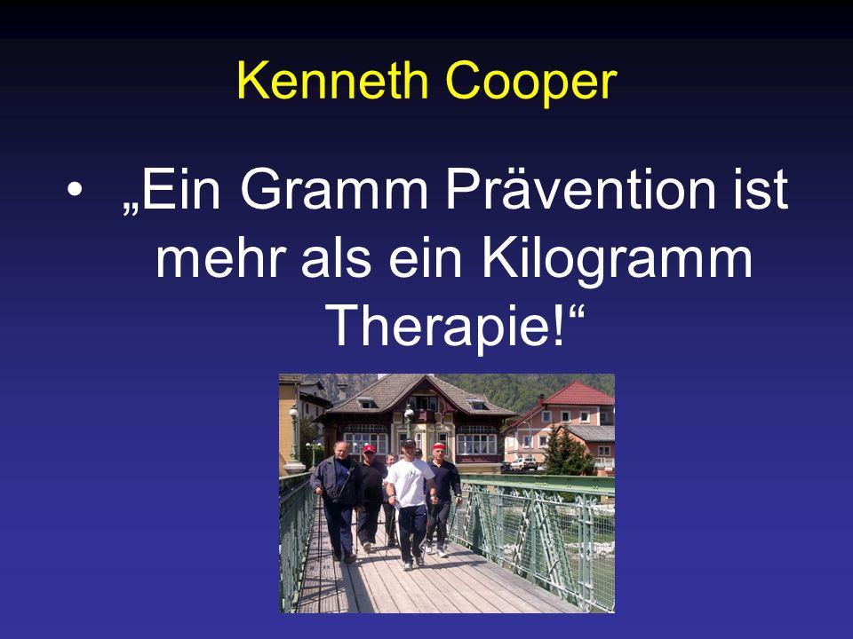 """""""Ein Gramm Prävention ist mehr als ein Kilogramm Therapie!"""