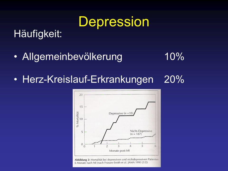 Depression Häufigkeit: Allgemeinbevölkerung 10%