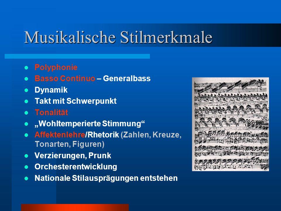 Musikalische Stilmerkmale