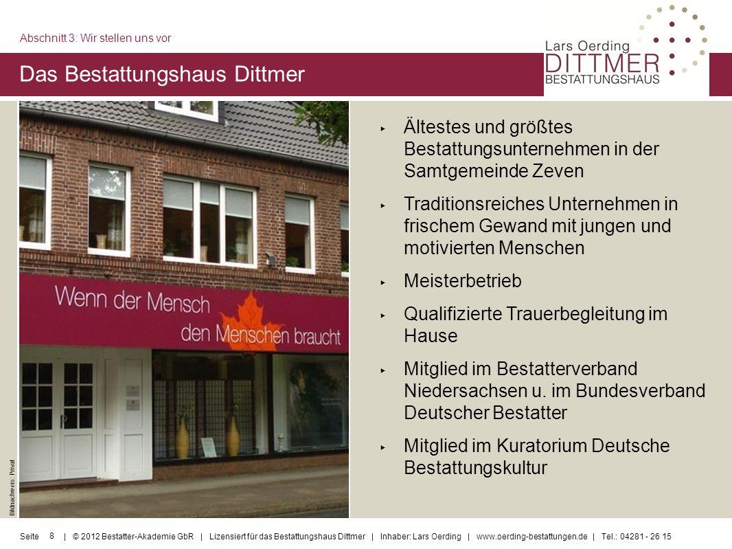Das Bestattungshaus Dittmer