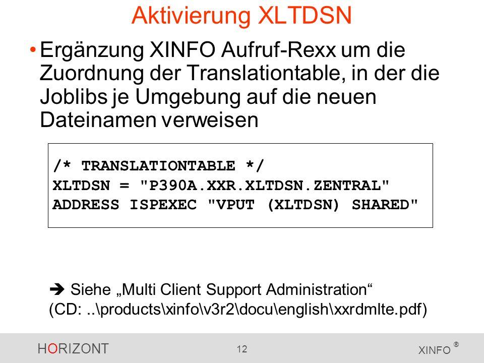 Aktivierung XLTDSN
