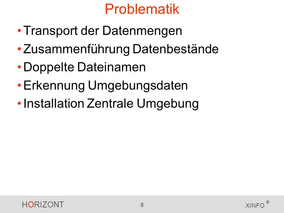 Problematik Transport der Datenmengen Zusammenführung Datenbestände