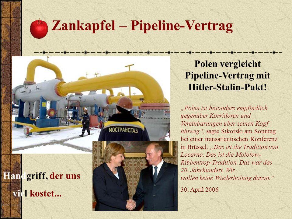 Polen vergleicht Pipeline-Vertrag mit Hitler-Stalin-Pakt!
