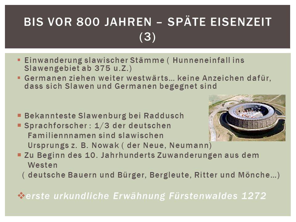 Bis vor 800 Jahren – späte Eisenzeit (3)