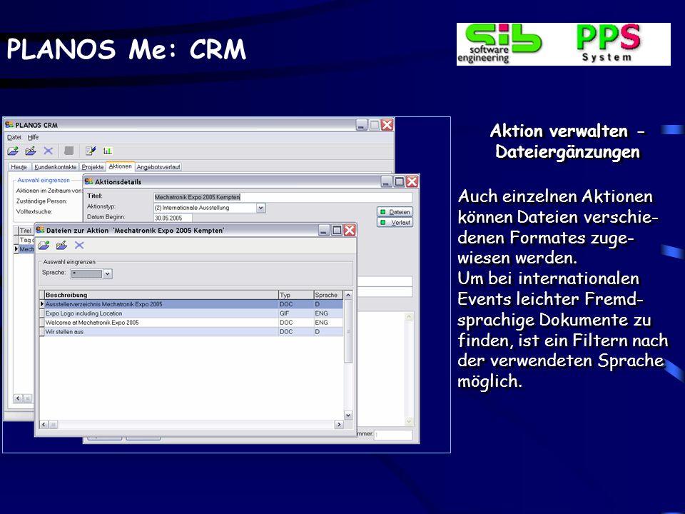 Aktion verwalten - Dateiergänzungen
