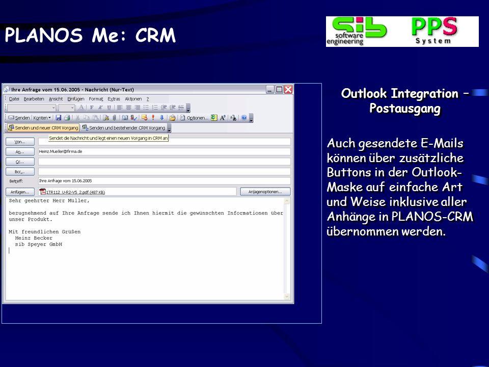 Outlook Integration – Postausgang