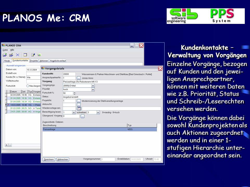 Kundenkontakte –Verwaltung von Vorgängen