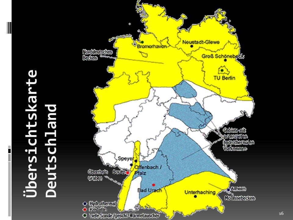 Übersichtskarte Deutschland