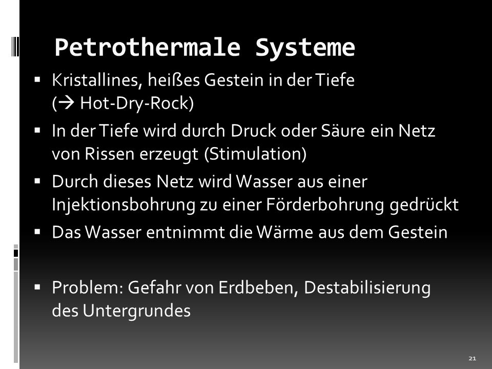 Petrothermale Systeme