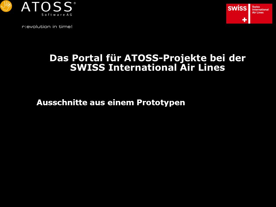 Das Portal für ATOSS-Projekte bei der SWISS International Air Lines