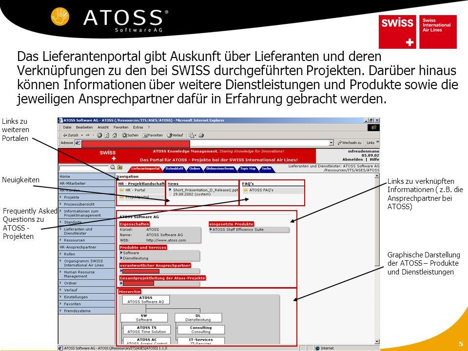 Das Lieferantenportal gibt Auskunft über Lieferanten und deren Verknüpfungen zu den bei SWISS durchgeführten Projekten. Darüber hinaus können Informationen über weitere Dienstleistungen und Produkte sowie die jeweiligen Ansprechpartner dafür in Erfahrung gebracht werden.