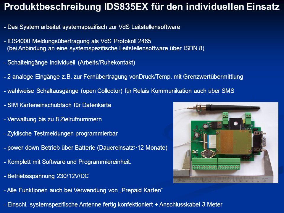 Produktbeschreibung IDS835EX für den individuellen Einsatz