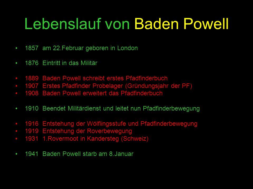 Lebenslauf von Baden Powell
