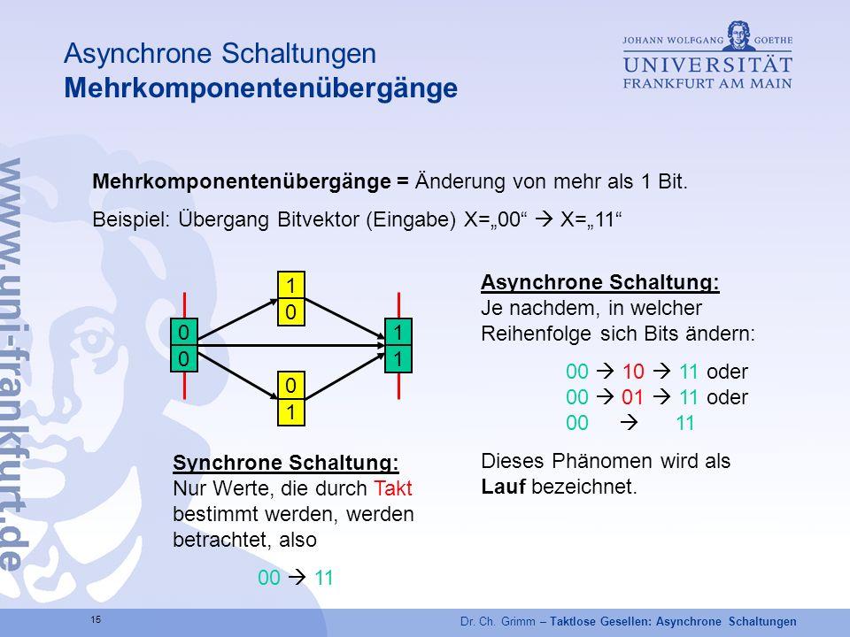 Asynchrone Schaltungen Mehrkomponentenübergänge