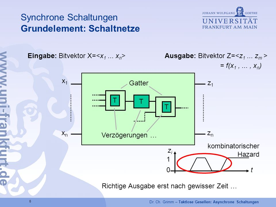 Synchrone Schaltungen Grundelement: Schaltnetze