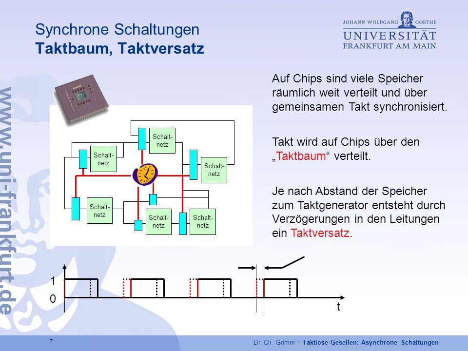 Synchrone Schaltungen Taktbaum, Taktversatz
