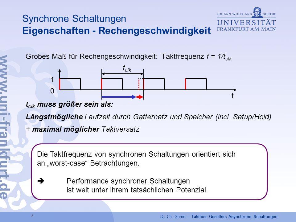 Synchrone Schaltungen Eigenschaften - Rechengeschwindigkeit