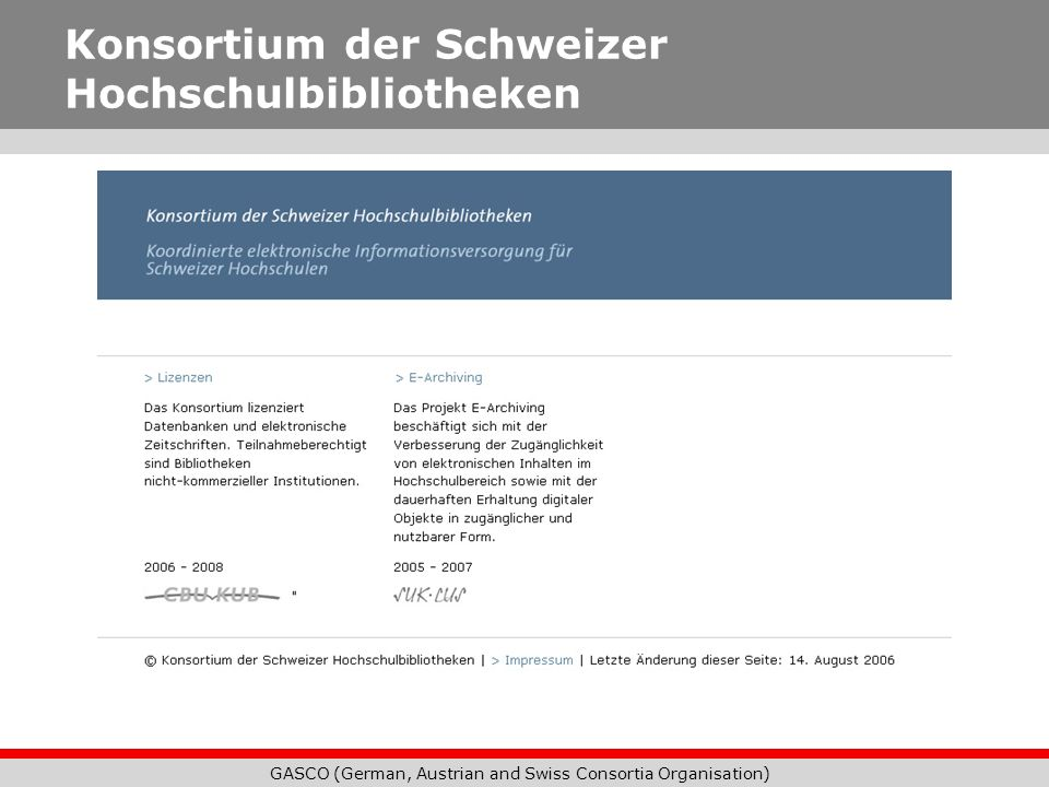 Konsortium der Schweizer Hochschulbibliotheken
