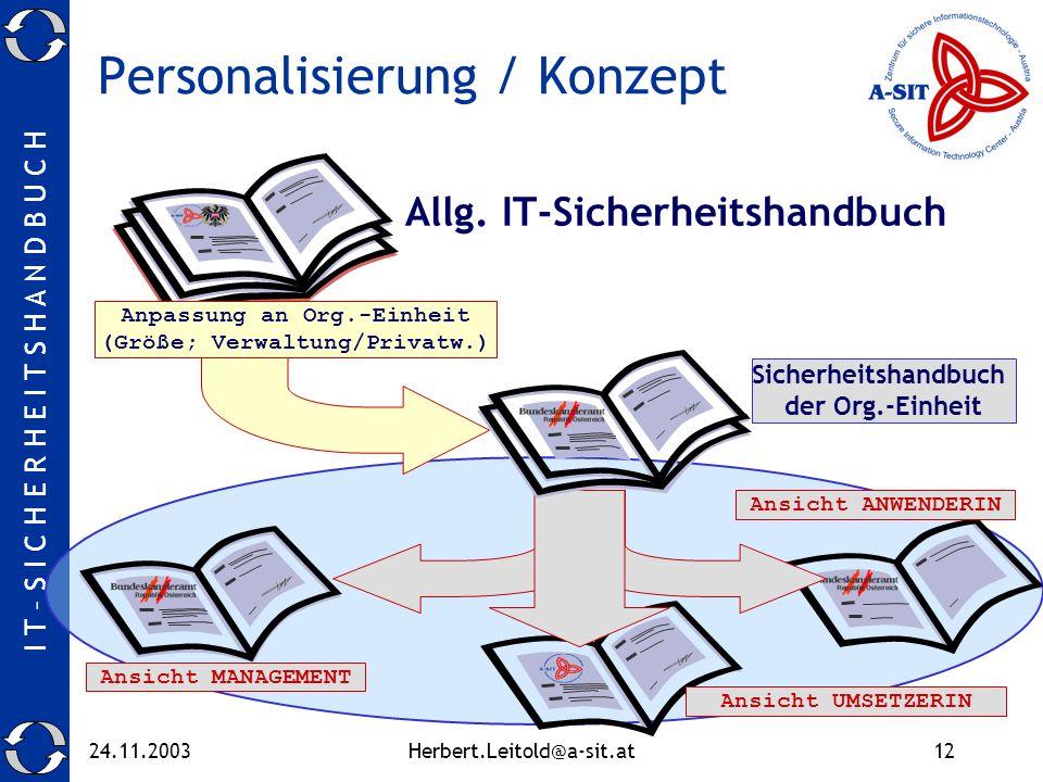 Personalisierung / Konzept