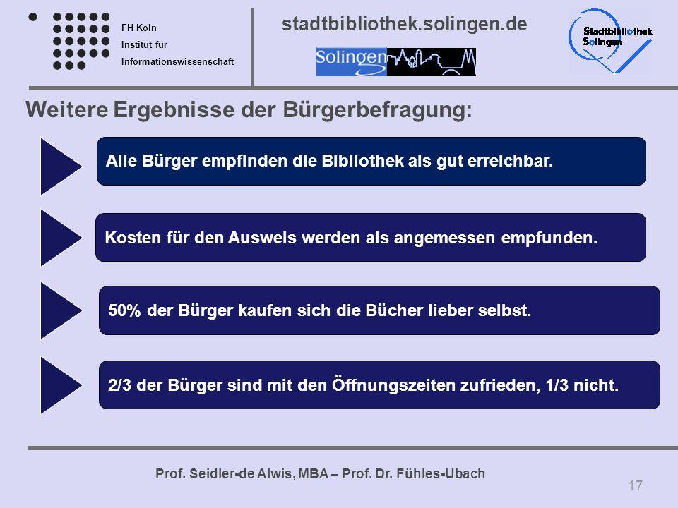 Weitere Ergebnisse der Bürgerbefragung: