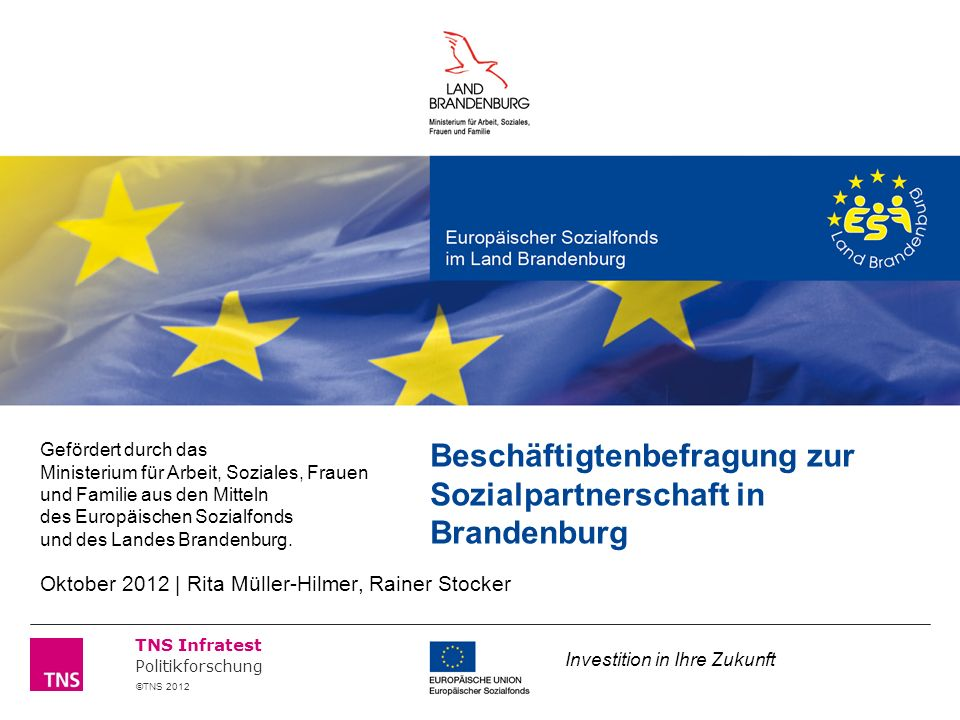 Beschäftigtenbefragung zur Sozialpartnerschaft in Brandenburg