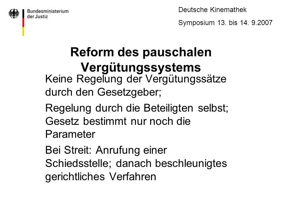 Reform des pauschalen Vergütungssystems