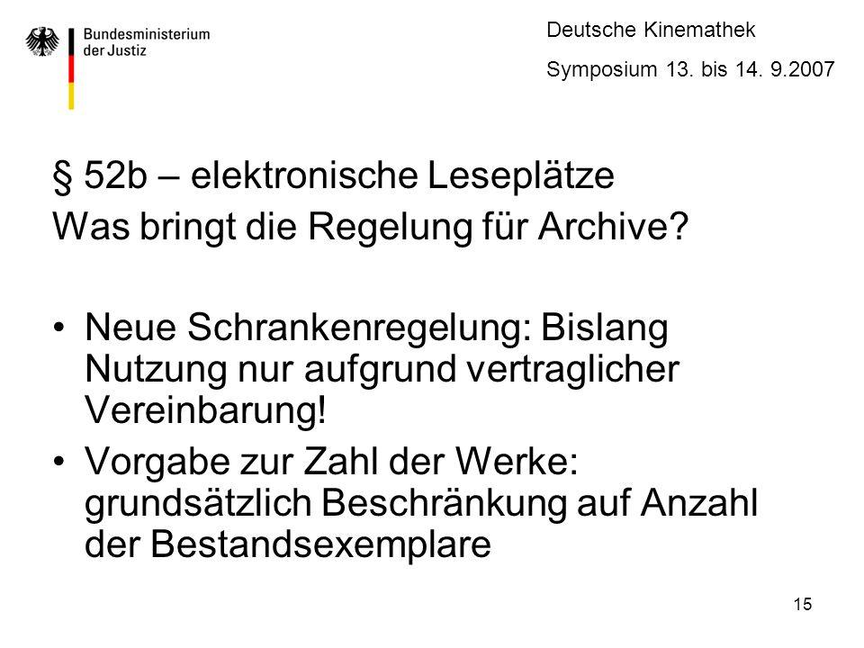 § 52b – elektronische Leseplätze