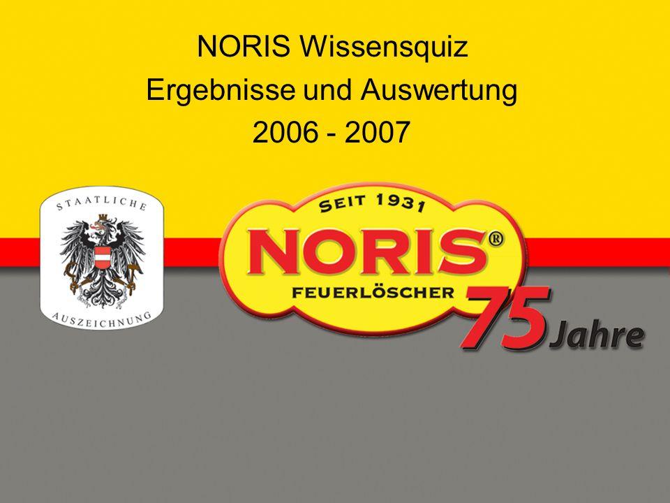 NORIS Wissensquiz Ergebnisse und Auswertung 2006 - 2007