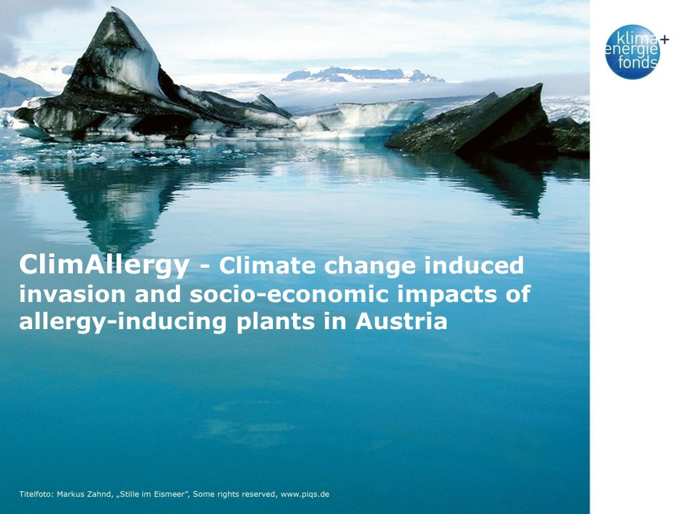 ClimAllergy - Climate change induced invasion and socio-economic impacts of allergy-inducing plants in Austria