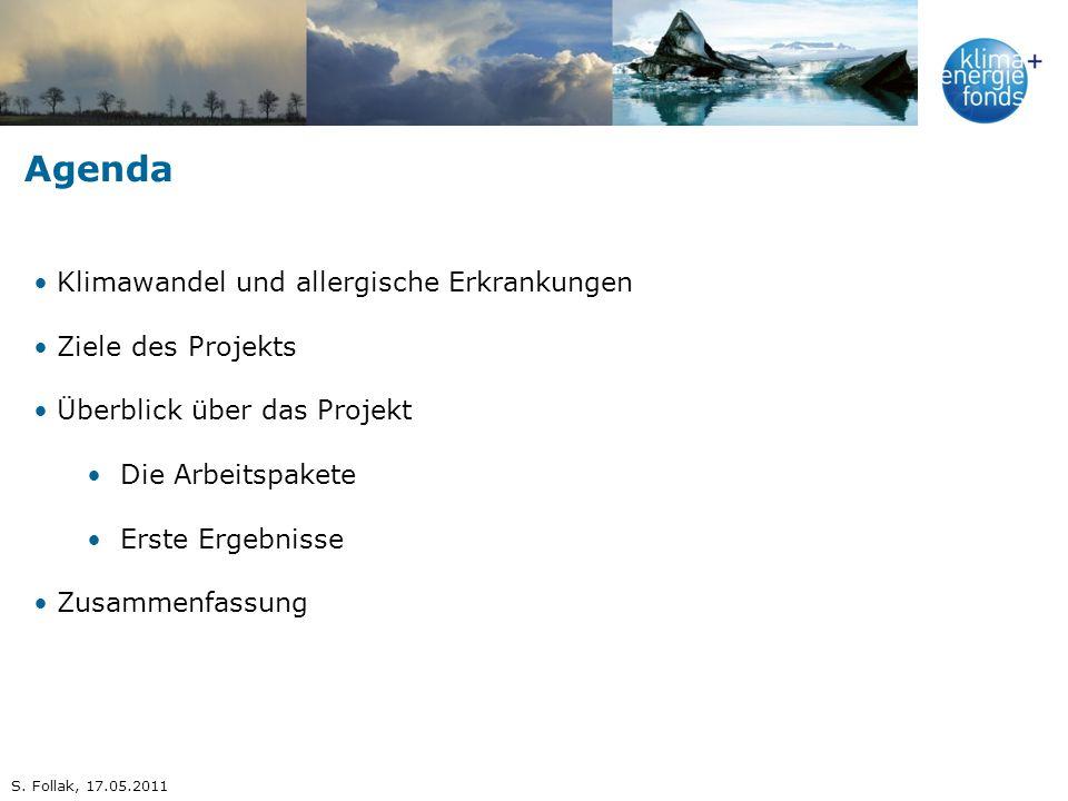 Agenda Klimawandel und allergische Erkrankungen Ziele des Projekts
