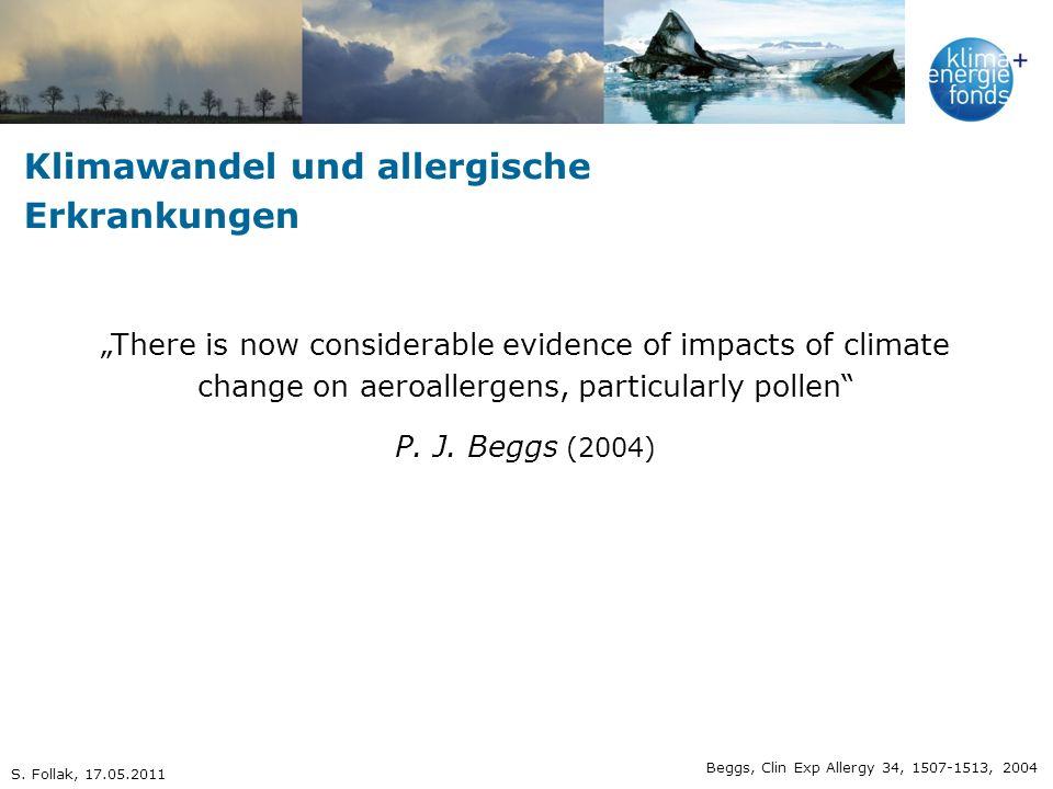 Klimawandel und allergische Erkrankungen