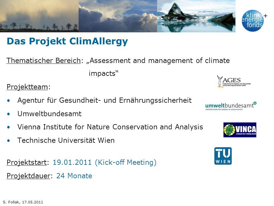 Das Projekt ClimAllergy