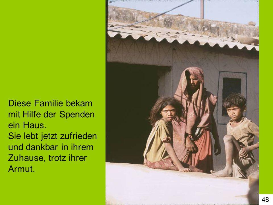 Diese Familie bekam mit Hilfe der Spenden ein Haus