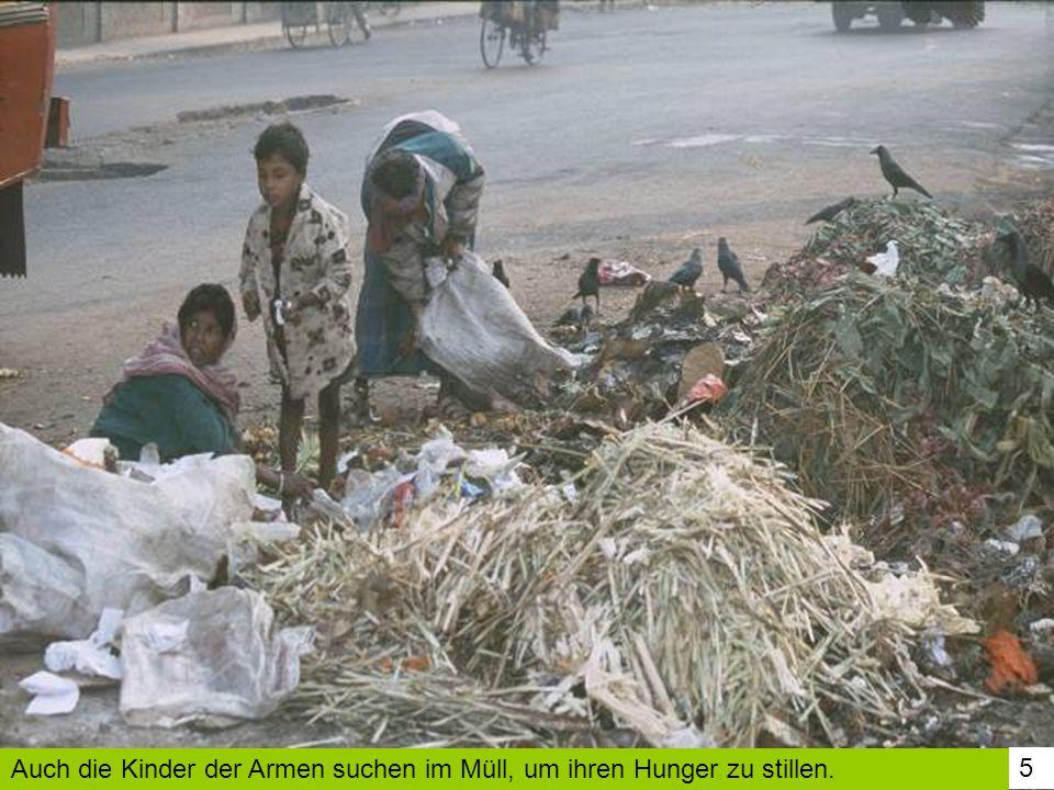 Auch die Kinder der Armen suchen im Müll, um ihren Hunger zu stillen.