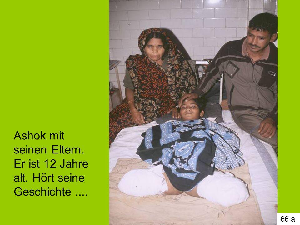Ashok mit seinen Eltern. Er ist 12 Jahre alt. Hört seine Geschichte ....