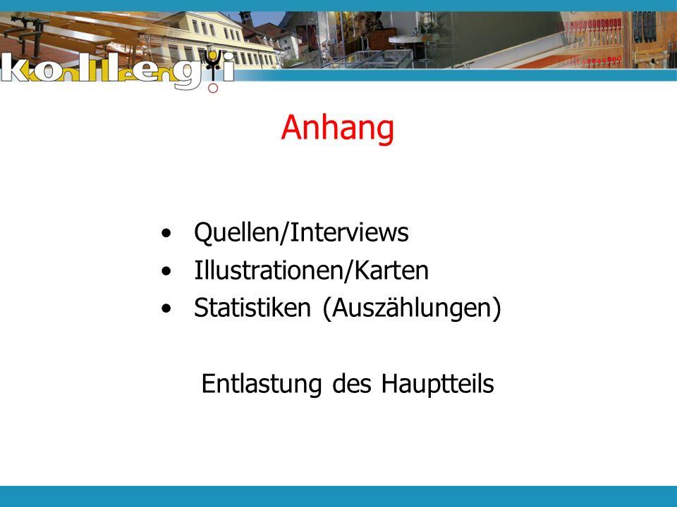 Anhang Quellen/Interviews Illustrationen/Karten