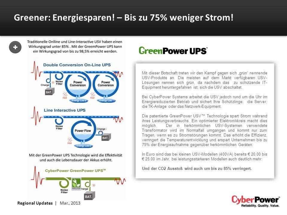 Greener: Energiesparen! – Bis zu 75% weniger Strom!