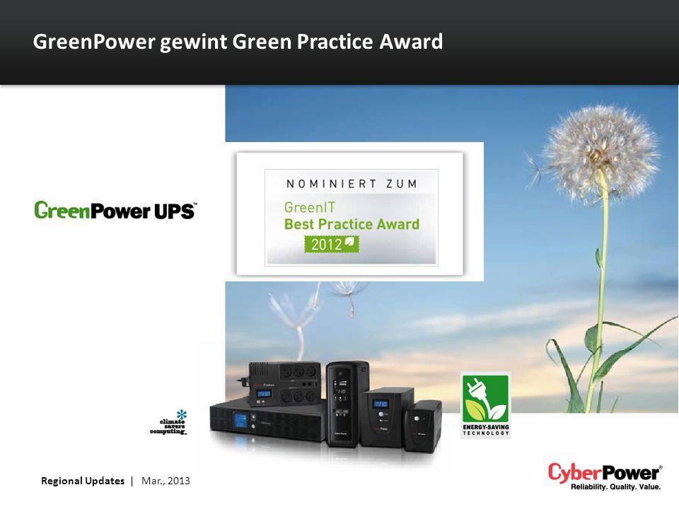 GreenPower gewint Green Practice Award