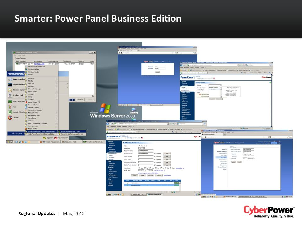 Smarter: Power Panel Business Edition