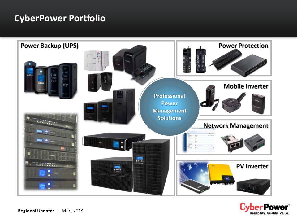 CyberPower Portfolio Regional Updates | Mar., 2013