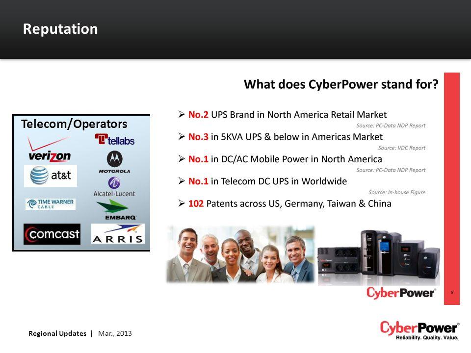 Reputation Telecom/Operators Regional Updates | Mar., 2013