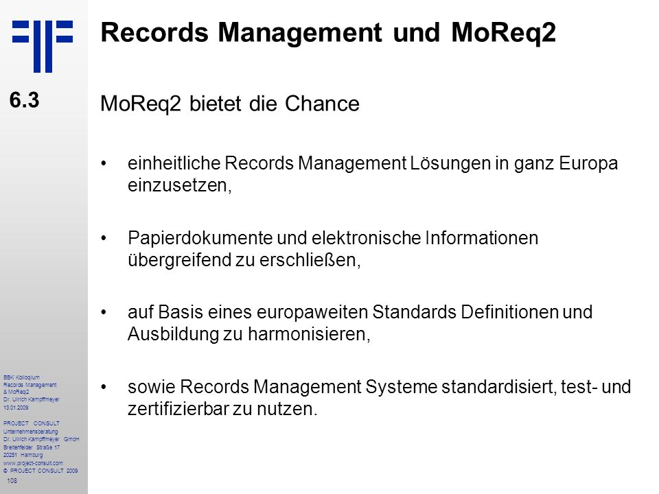 Records Management und MoReq2
