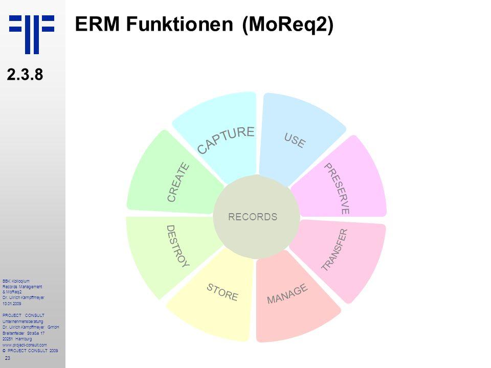ERM Funktionen (MoReq2)