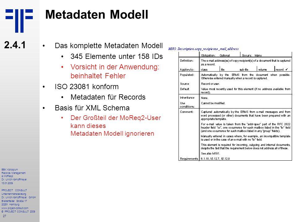 Metadaten Modell 2.4.1 Das komplette Metadaten Modell