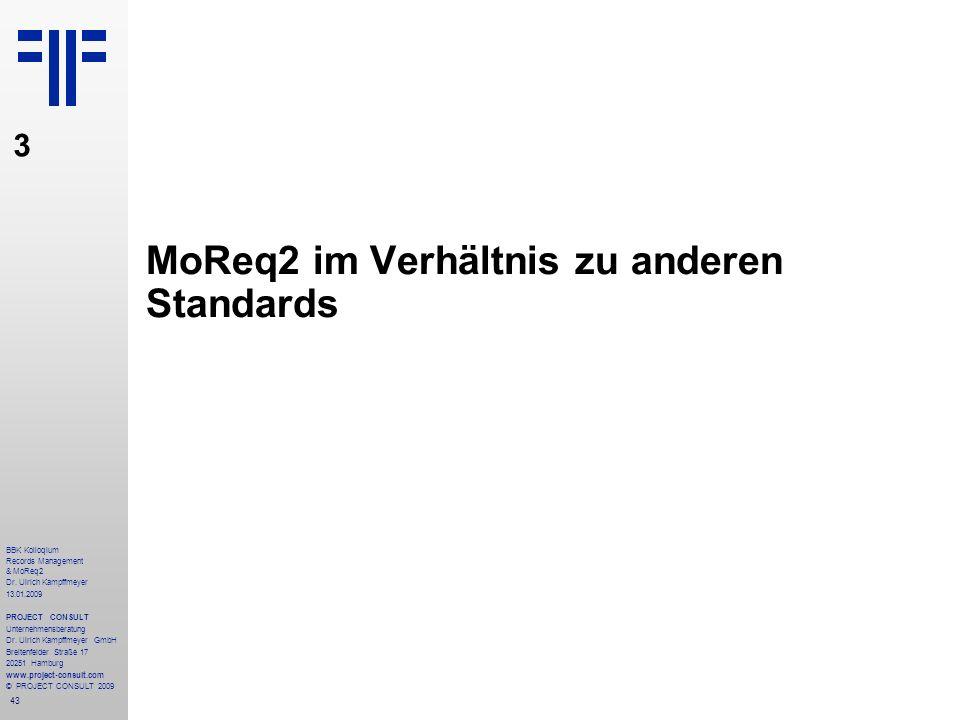 MoReq2 im Verhältnis zu anderen Standards